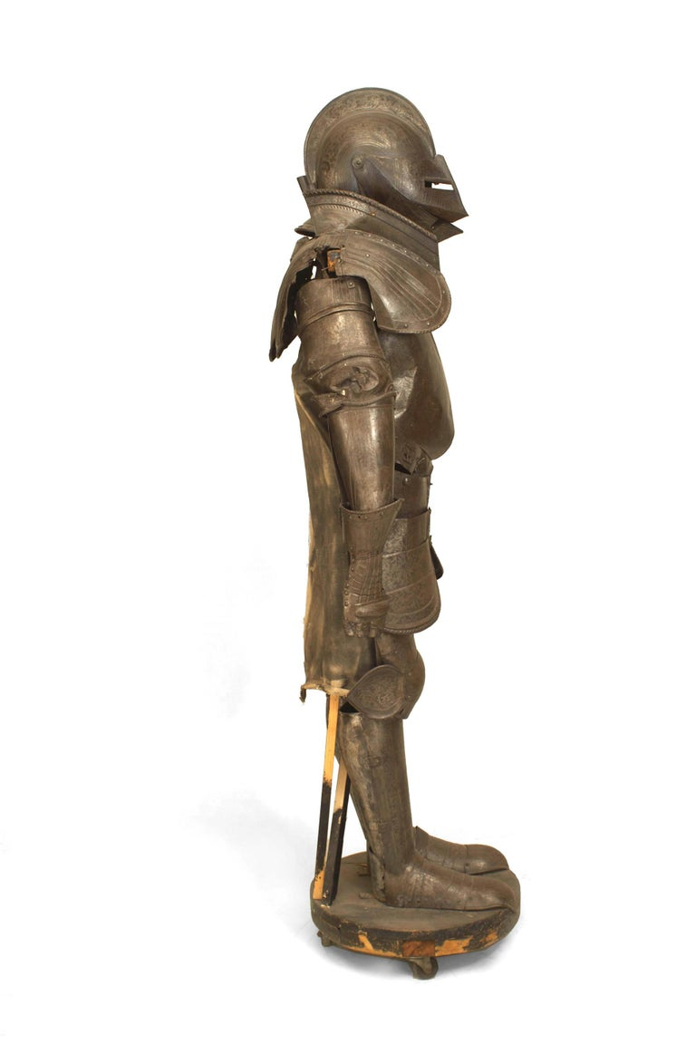 Italian 19th c. Medieval Style Suit Of Armor For Sale