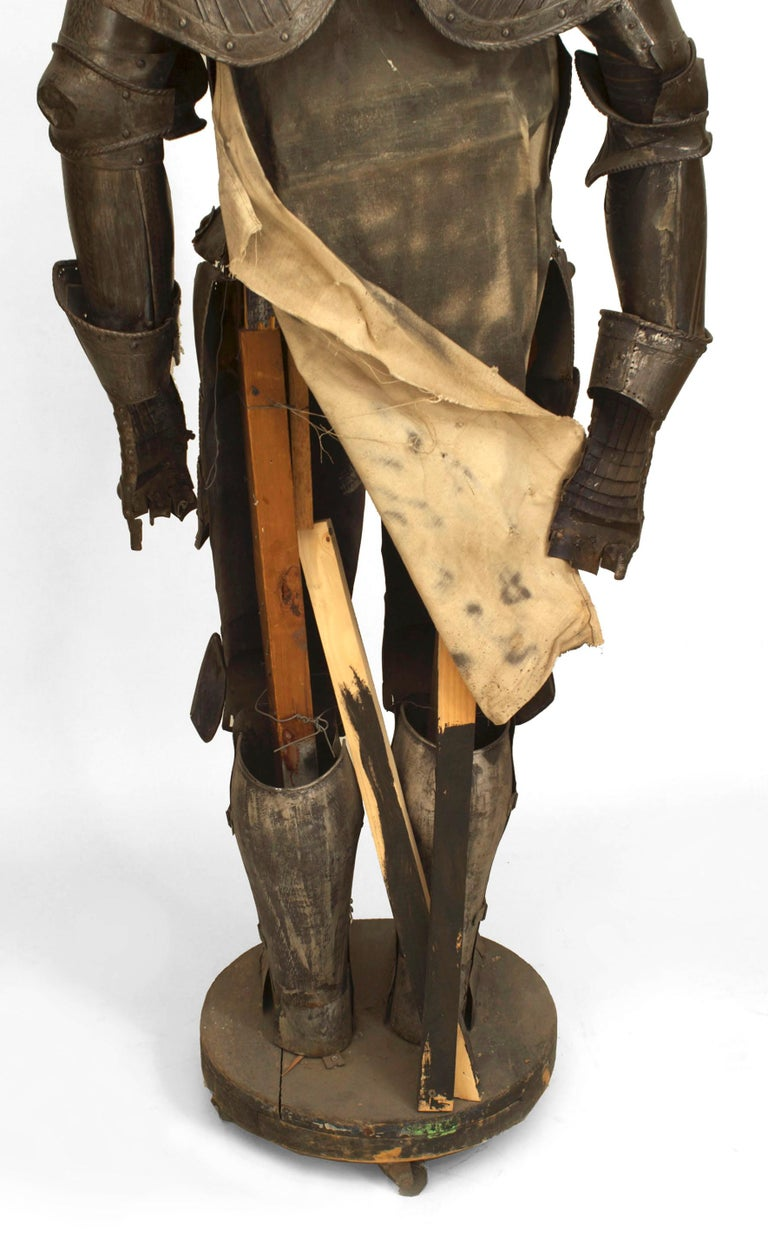 Metal 19th c. Medieval Style Suit Of Armor For Sale