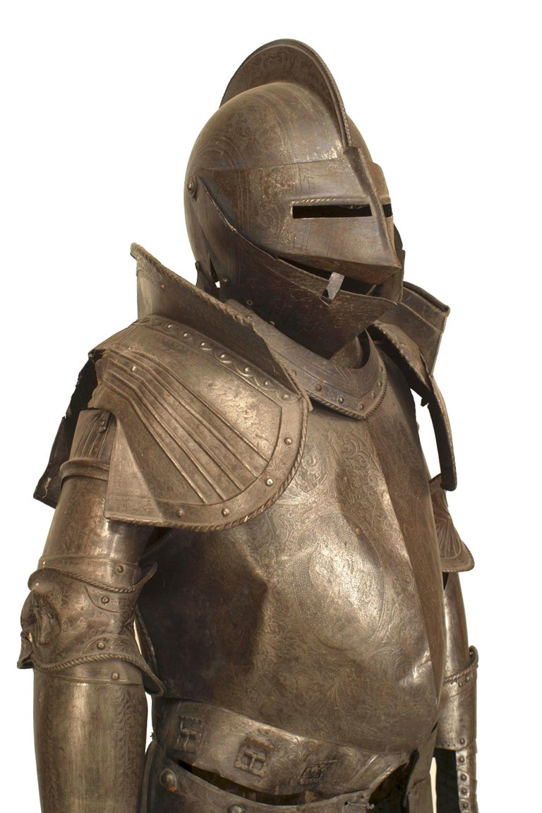 19th c. Medieval Style Suit Of Armor For Sale 2