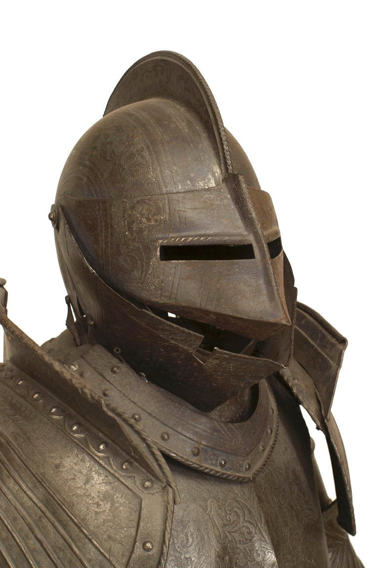 19th c. Medieval Style Suit Of Armor For Sale 3