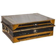 19th Century Metal English Cash Box