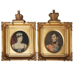 Mezzotint Portraits of Princess Charlotte and Prince Leopold's Marriage