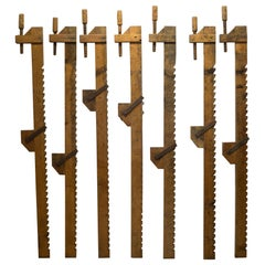 19th Century Monumental Wooden Shipwright Clamps, circa 1800s