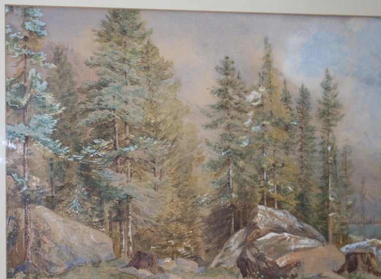 19th Century North American Landscape Watercolor In Good Condition For Sale In Worcester, Worcestershire