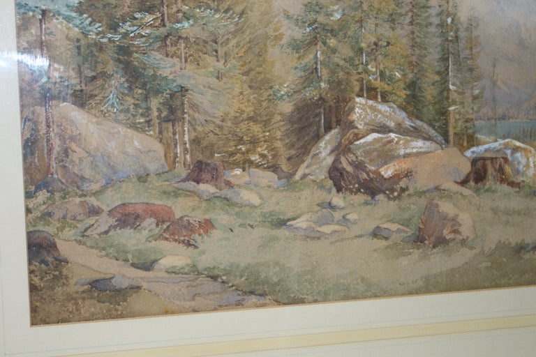 Paint 19th Century North American Landscape Watercolor For Sale