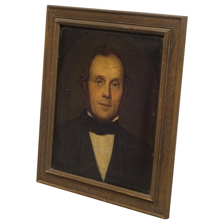 19th Century Oil Portrait of a Gentleman, circa 1800s For Sale