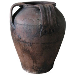 19th Century Olive Jar, Olive Jar, Spain, Jar, Pot, Terracotta Jar