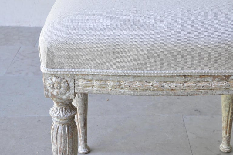 19th Century Pair of Swedish Gustavian Period Stool in Original Paint For Sale 1