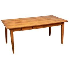 19th Century Plank Top Farm Table