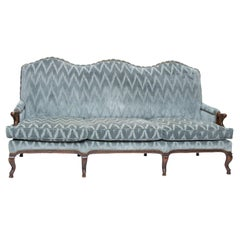 19th Century Provincial Triple Back Settee