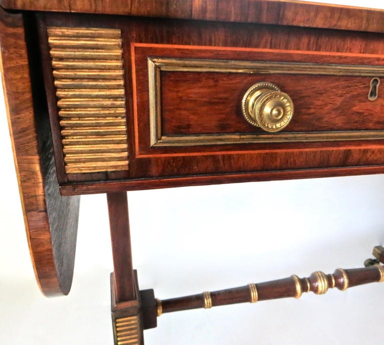 19th Century Regency Rosewood Sofa Table, Attributed to John Mclean For Sale 3