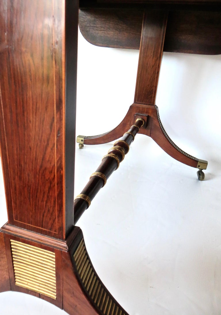 Hand-Crafted 19th Century Regency Rosewood Sofa Table, Attributed to John Mclean For Sale