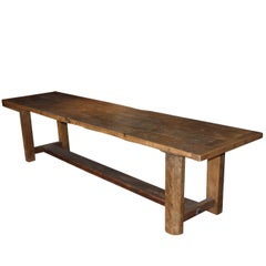 19th Century Rustic Oak Refectory Table