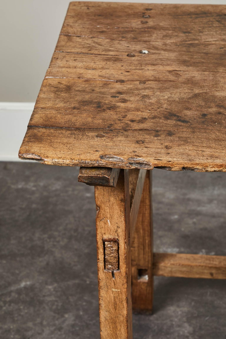 Walnut 19th Century Rustic Spanish Side Table For Sale