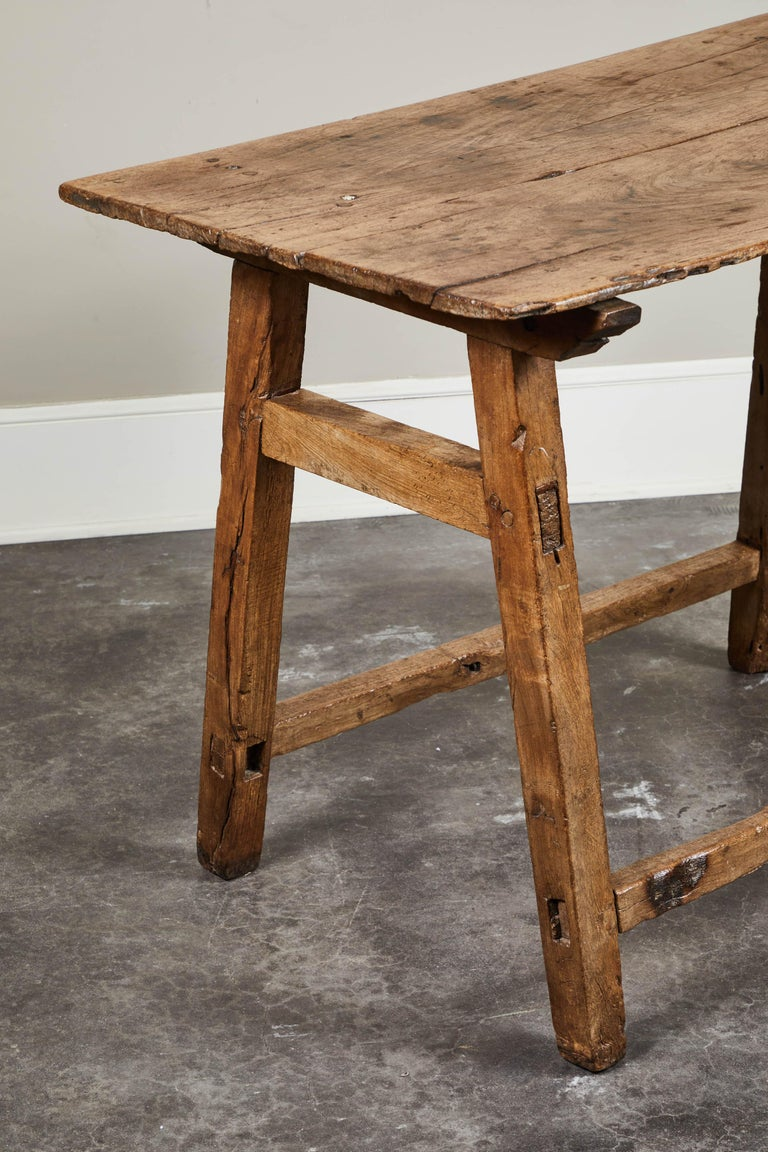 19th Century Rustic Spanish Side Table For Sale 1