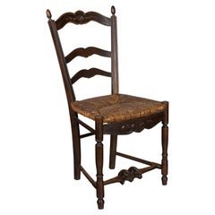 19th c. Set of Four  Country French Chairs