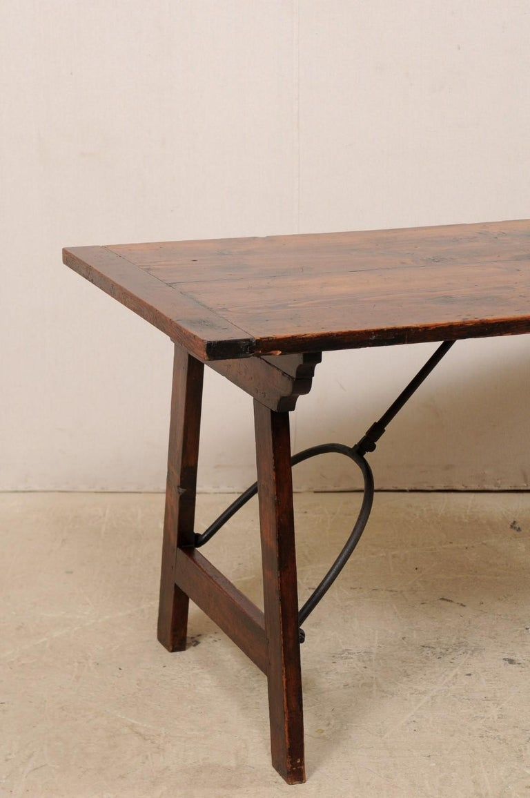 Wood Spanish Table with Legs Uniquely Designed to be Folded for Easy Storage For Sale