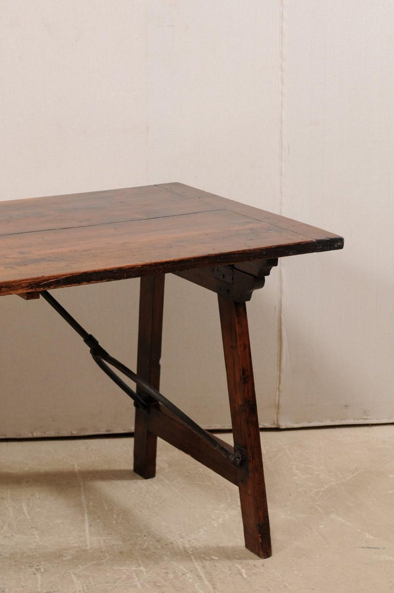 Spanish Table with Legs Uniquely Designed to be Folded for Easy Storage For Sale 1