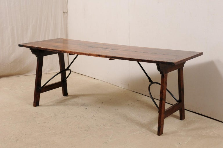 Spanish Table with Legs Uniquely Designed to be Folded for Easy Storage For Sale 2