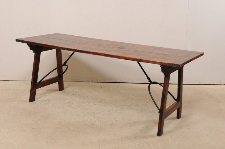 Spanish Table with Legs Uniquely Designed to be Folded for Easy Storage For Sale 4