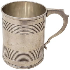 19th Century Sterling Silver Christening Cup with Hallmarks