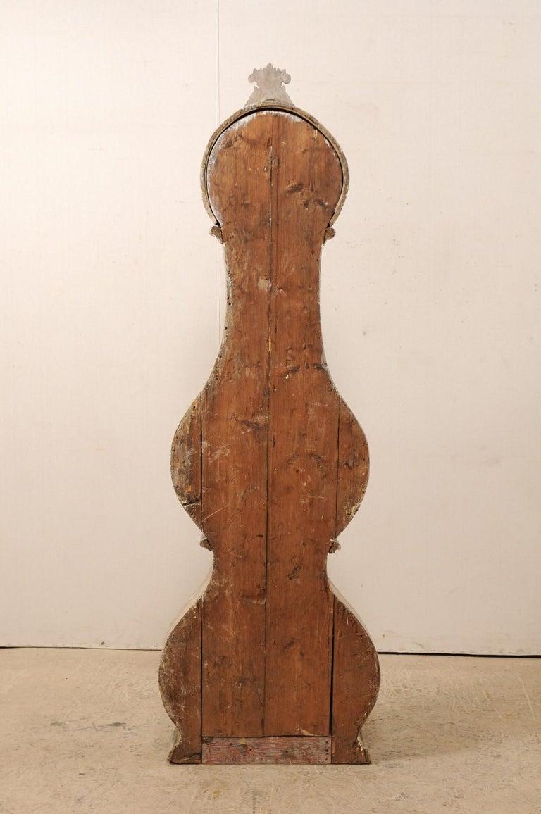 19th Century Swedish Fryksdahl Floor Clock w/ Beautiful, Curvaceous Body For Sale 6