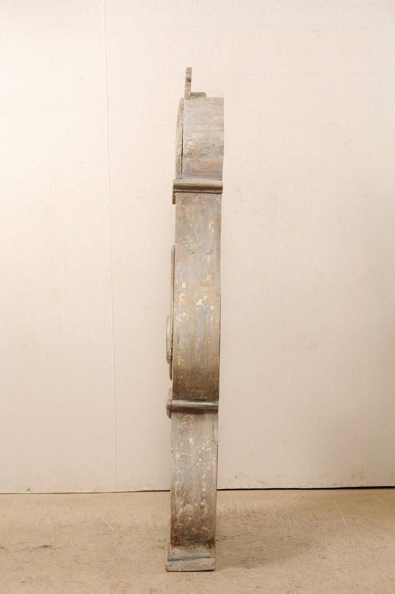 19th Century Swedish Fryksdahl Floor Clock w/ Beautiful, Curvaceous Body For Sale 1