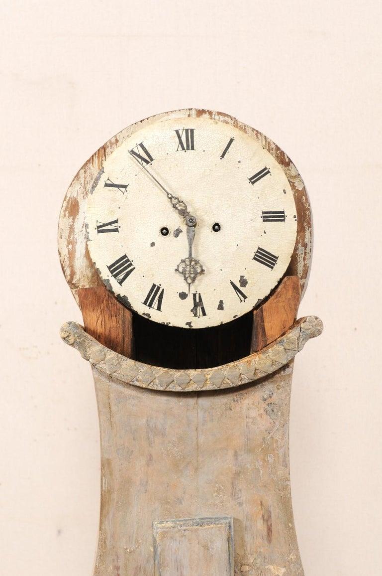 19th Century Swedish Fryksdahl Floor Clock w/ Beautiful, Curvaceous Body For Sale 3