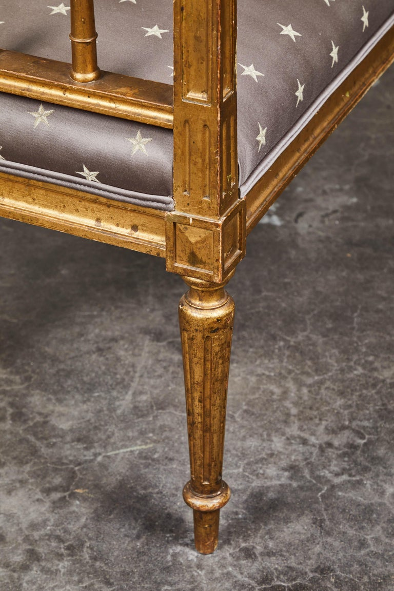 19th Century Swedish Gilded Gustavian Style Bench For Sale 1