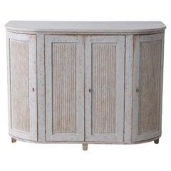 19th C. Swedish Gustavian Period Painted Buffet Cabinet