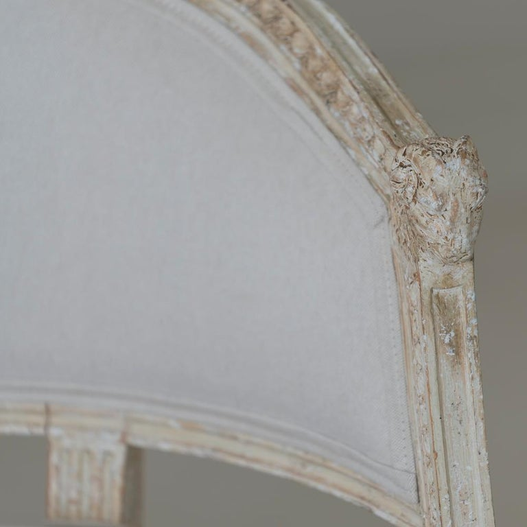 19th Century Swedish Gustavian Style Settee with Goat Heads in Original Paint For Sale 3