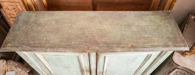 Pine 19th Century Tuscan Painted Buffet For Sale