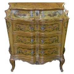 19th Century Venetian Hand-Painted Commode