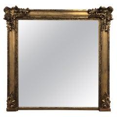 19th Century William IV Large Giltwood Overmantel Mirror