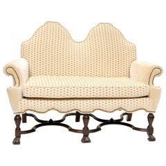 19th Century William & Mary Style Double Back Settee
