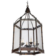 19th Century Cast Bronze, Hanging Lantern