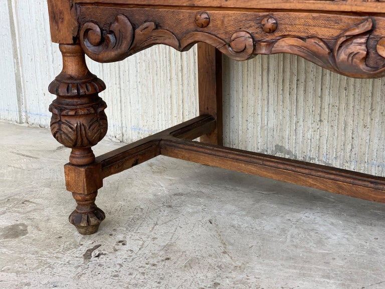 19th Century Catalan Spanish Buffet with Two Carved Drawers and Two Doors For Sale 2