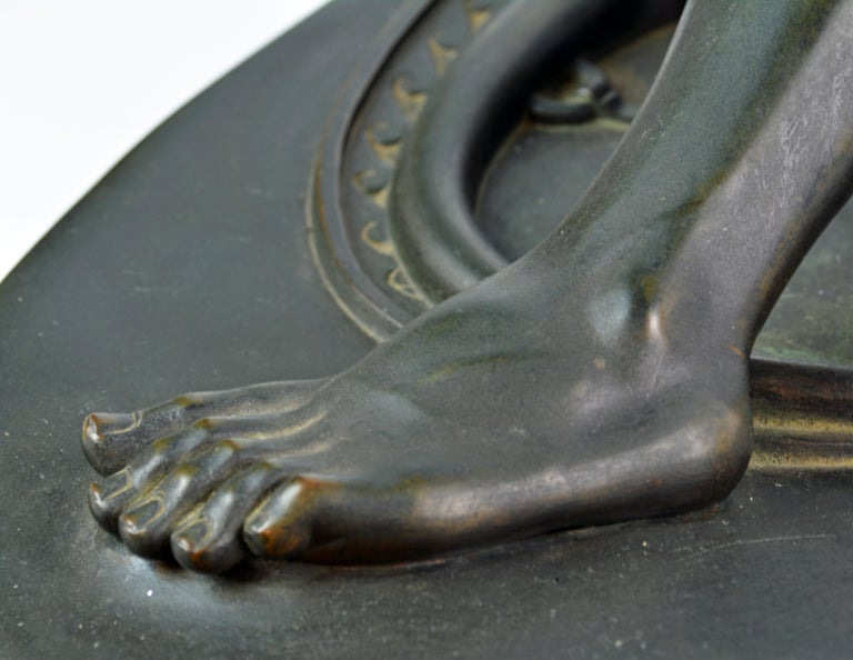 19th Century Bronze Statue the Dying Gaul by B. Boschetti Roma after the Antique For Sale 9