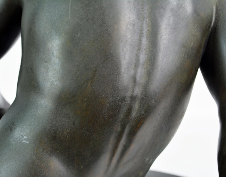 19th Century Bronze Statue the Dying Gaul by B. Boschetti Roma after the Antique For Sale 11