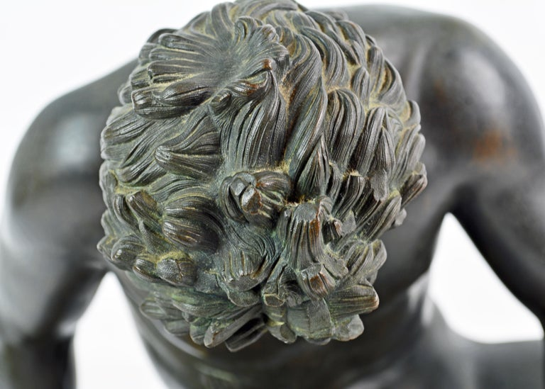19th Century Bronze Statue the Dying Gaul by B. Boschetti Roma after the Antique In Good Condition For Sale In Ft. Lauderdale, FL