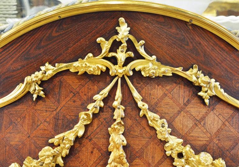 19th Century Louis XV Style Ormolu Mounted Parquetry Vernis Martin Vitrine 4