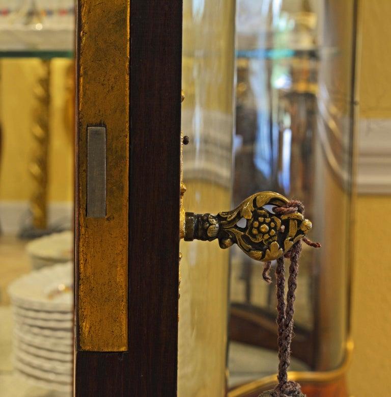 19th Century Louis XV Style Ormolu Mounted Parquetry Vernis Martin Vitrine 8