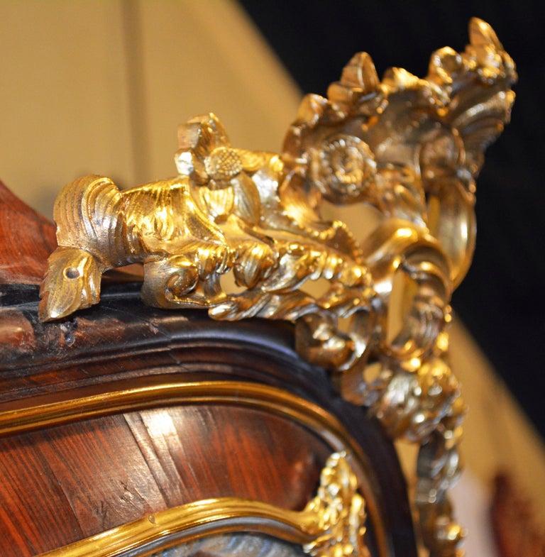 19th Century Louis XV Style Ormolu Mounted Parquetry Vernis Martin Vitrine 9