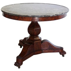19th Century French Marble Top Gueridon