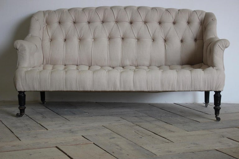 Fabric 19th Century French Napoleon III Sofa For Sale