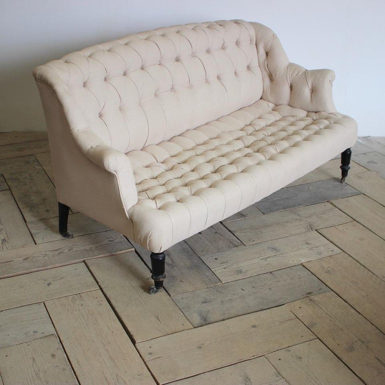 19th Century French Napoleon III Sofa For Sale 2