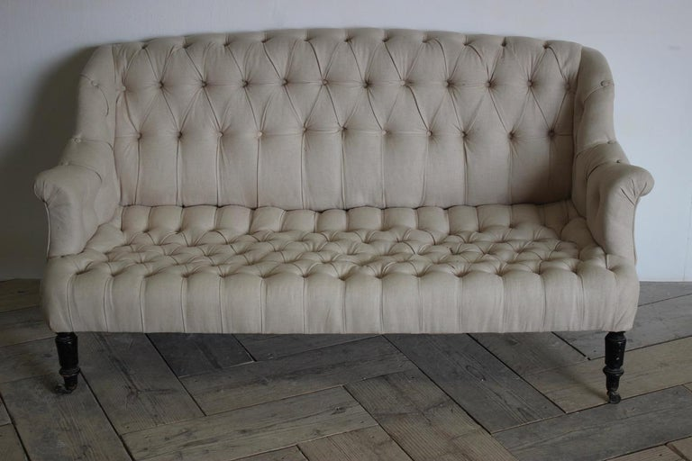 19th Century French Napoleon III Sofa For Sale 3