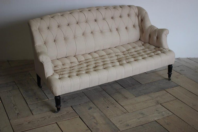 19th Century French Napoleon III Sofa For Sale 4