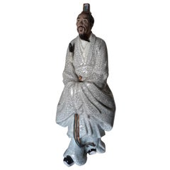 19th Cent Porcelain Figurine of Korean Origin, Representing a Court Dignitary