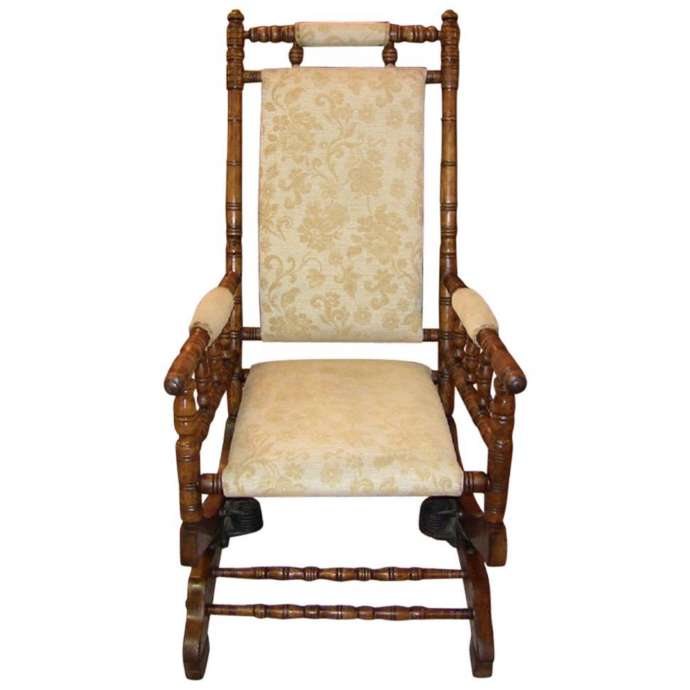19th Centruy American Hunzinger Style Walnut Platform Rocking Chair For Sale  sc 1 st  1stDibs & 19th Centruy American Hunzinger Style Walnut Platform Rocking Chair ...